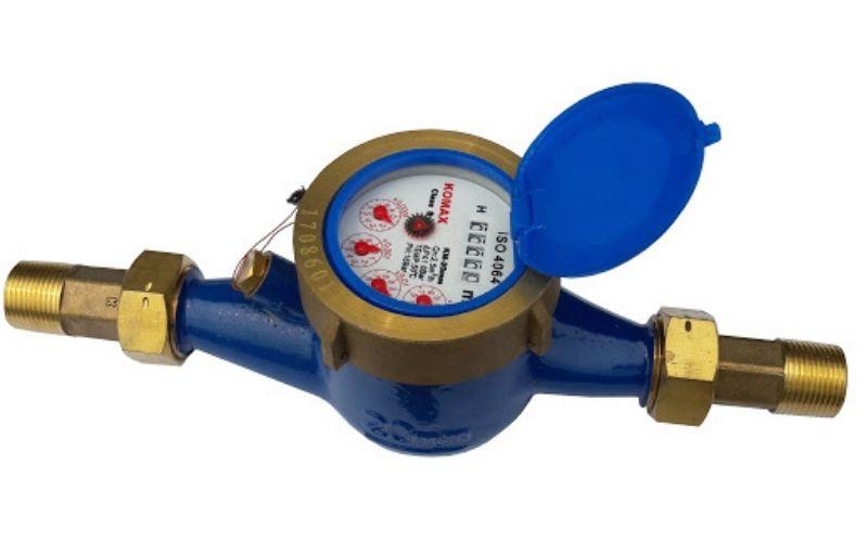 Đồng hồ nước kiểu lắp ngang giúp ổn định dòng chảy, đo lưu lượng nước chính xác