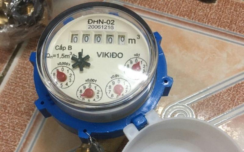 Đồng hồ nước vikido có kiểu dáng gọn nhẹ và độ chính xác cao